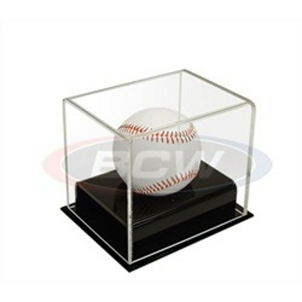 1 bcw deluxe acrylic baseball holder display case uv protection ebay. Black Bedroom Furniture Sets. Home Design Ideas