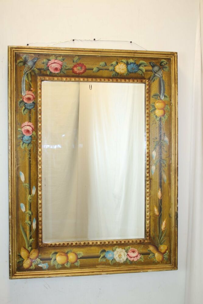 Venetian Style Italian Wall Mirror With Exceptional Art