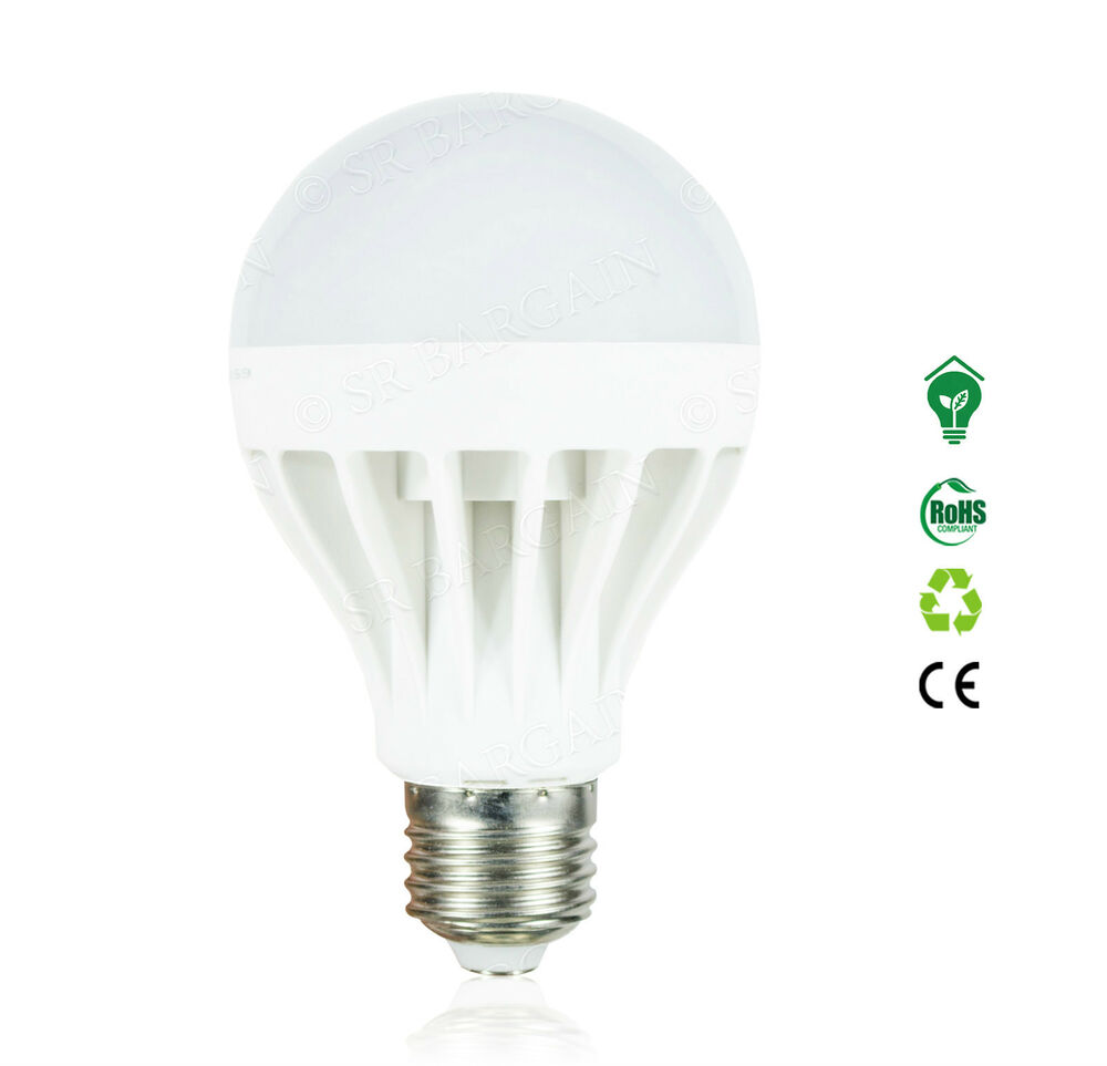 edison screw led bulbs e27 gls 7w 9w 12w cool white globe lamps long life es cap ebay. Black Bedroom Furniture Sets. Home Design Ideas