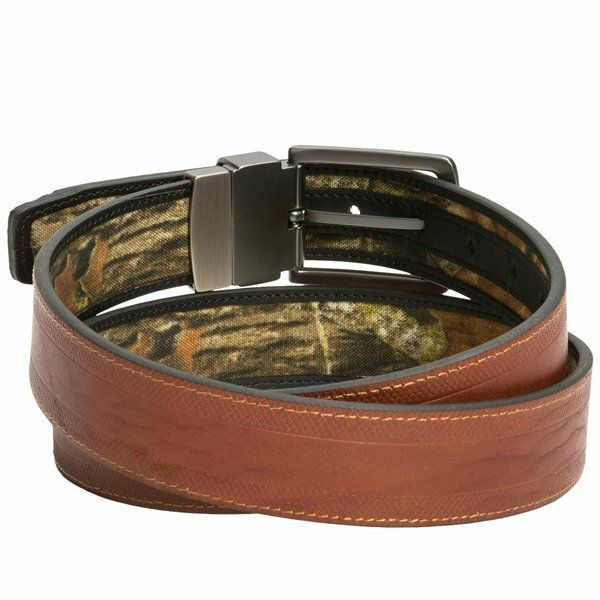 browning mossy oak camo brown reversible leather belt