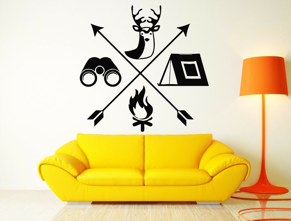 Wall Decal Hunt Hunting Deer Tourism Travel Camping Cool