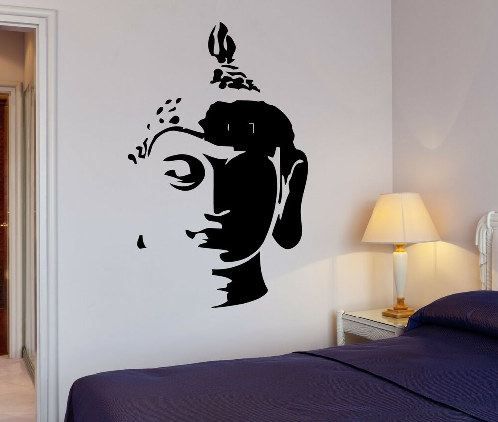 Wall Decal Buddha Head Buddhism Oriental Buddhist