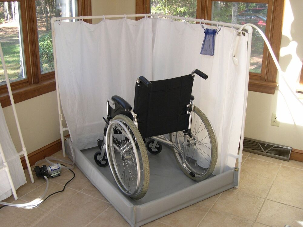 LiteShower Wheelchair Accessible Portable Shower Stall Standard Model EBay