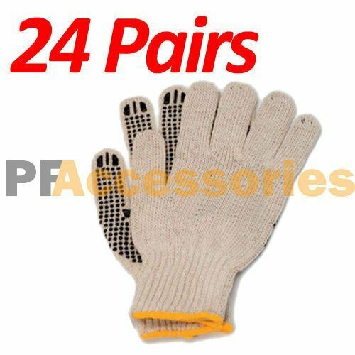 Knitting Warehouse Shipping : Pairs cotton pvc dots string knit work gloves size l