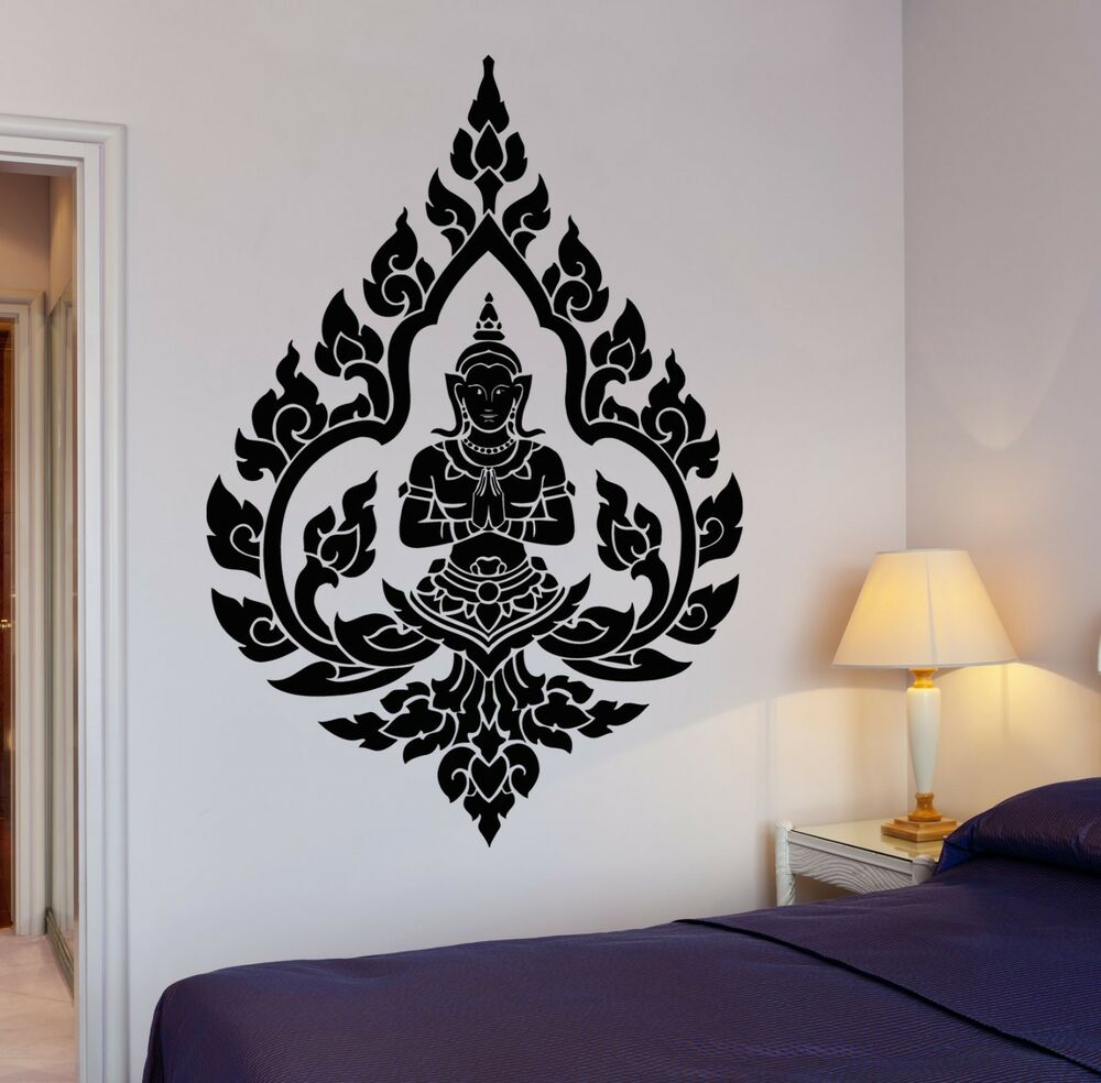 Wall decal buddha buddhism indian zen meditation decor for Stickers de pared