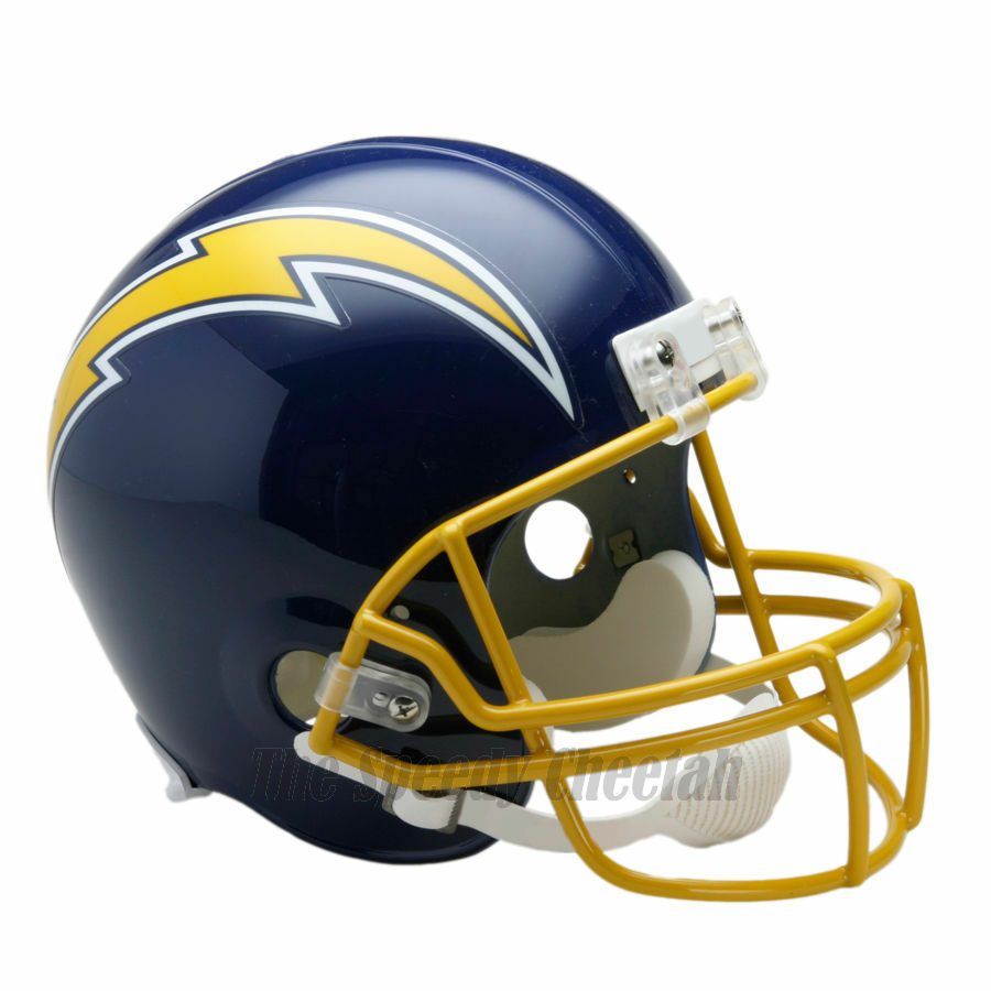 San Diego Chargers Football Helmet: SAN DIEGO CHARGERS 74-87 THROWBACK FOOTBALL HELMET