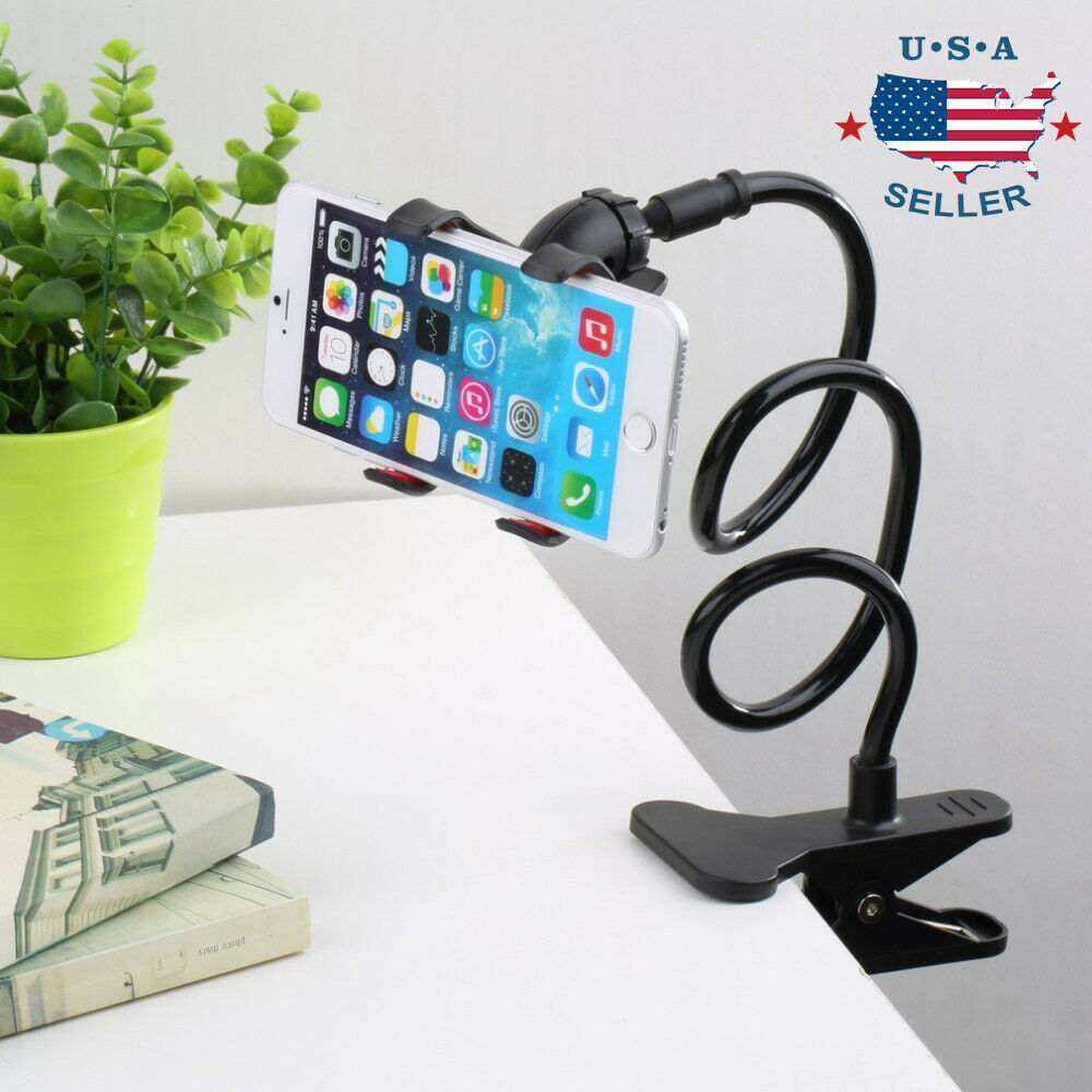 flexible lazy bracket mobile phone stand holder car bed desk for iphone samsung ebay. Black Bedroom Furniture Sets. Home Design Ideas