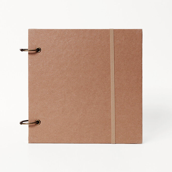 Book Cover Paper Thickness ~ Square sketch book removable ring bound notebook thick