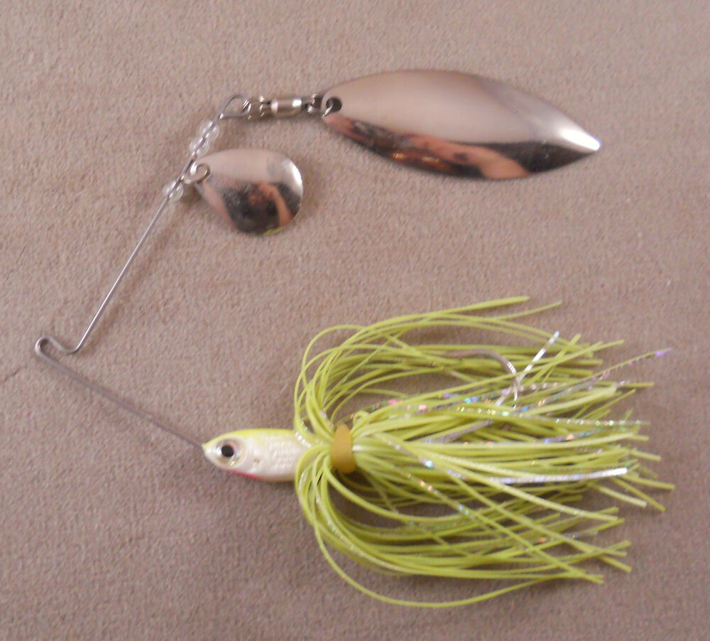 Bass fishing lure dr custom spinnerbait 1 2 oz with 1 for Bass fishing in colorado