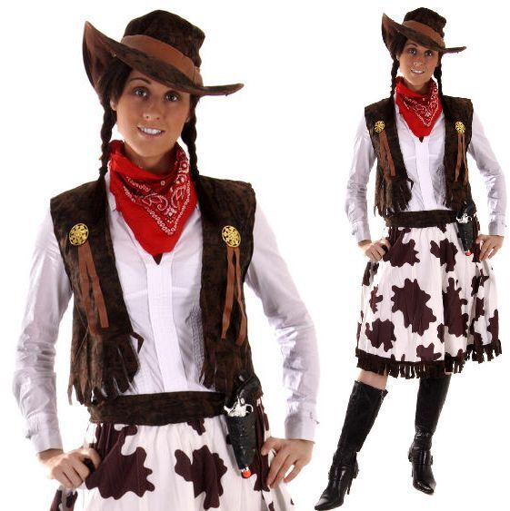 5 Pc Ladies Wild West Jessie Cowgirl Cowboy Sheriff Fancy ...