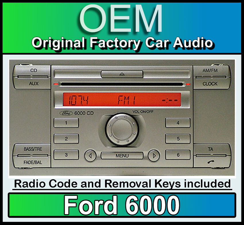 ford 6000 silver cd player ford kuga car stereo headunit radio removal keys ebay. Black Bedroom Furniture Sets. Home Design Ideas