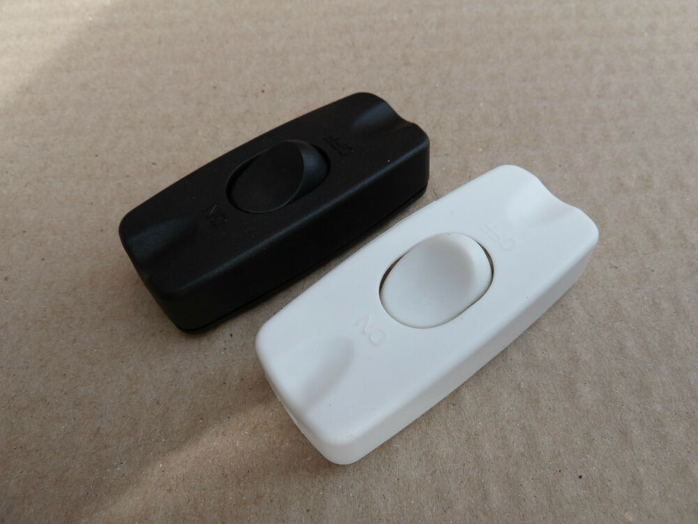 Table Light Switch : A in line rocker switch table lamp part white black ebay