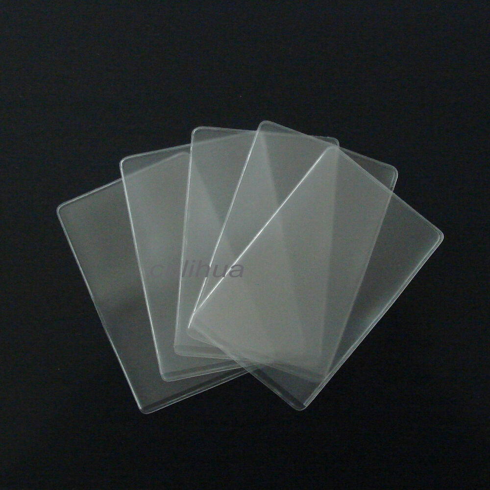 transparent clear cover protector skin pouch for id credit