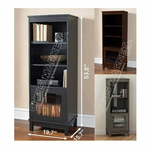 Entertainment center storage cabinet furniture glass doors for Cherry kitchen cabinets with glass doors