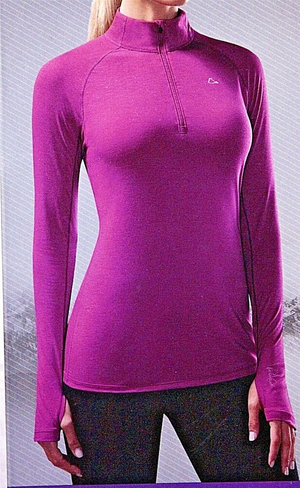 Nwt women 39 s paradox top base layer merino wool blend 1 4 for Merino wool shirt womens