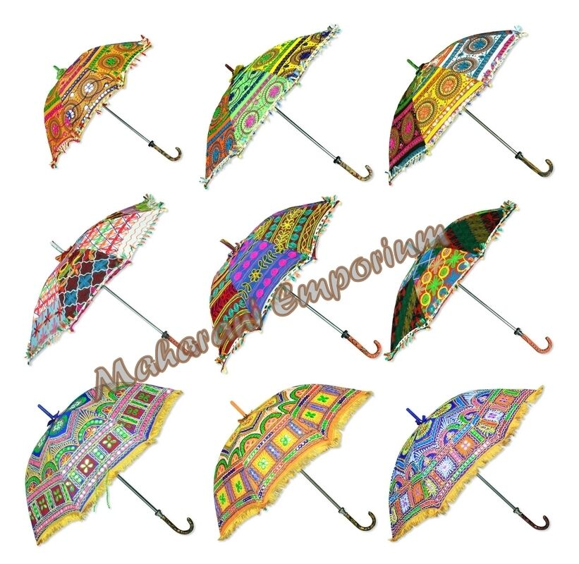 wholesale lot of 20 pcs traditional indian small umbrellas