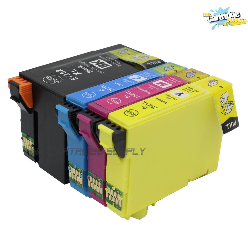 4PC NON-OEM T252XL Ink CARTRIDGE FOR Epson Workforce WF ...