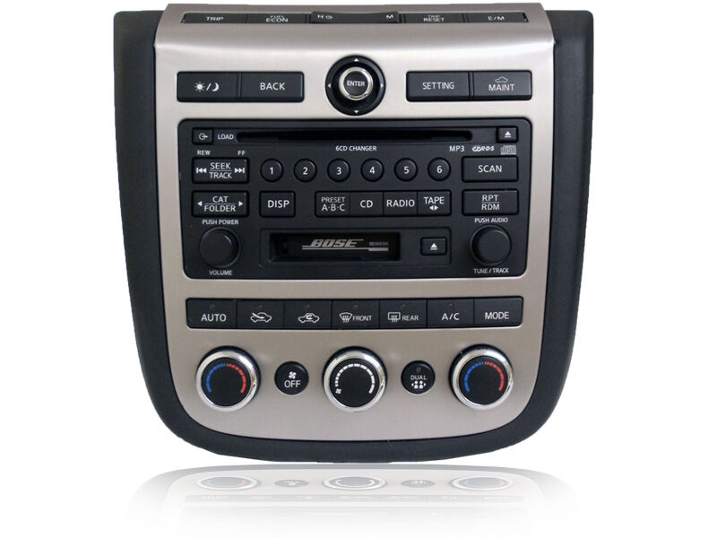 06 07 nissan murano bose radio 6 disc changer tape. Black Bedroom Furniture Sets. Home Design Ideas
