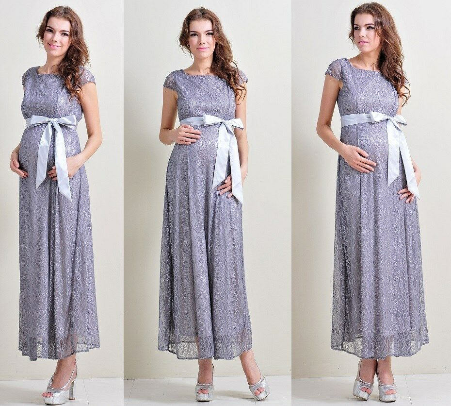 maternity evening dress babyshower wedding bridal party pregnant gown