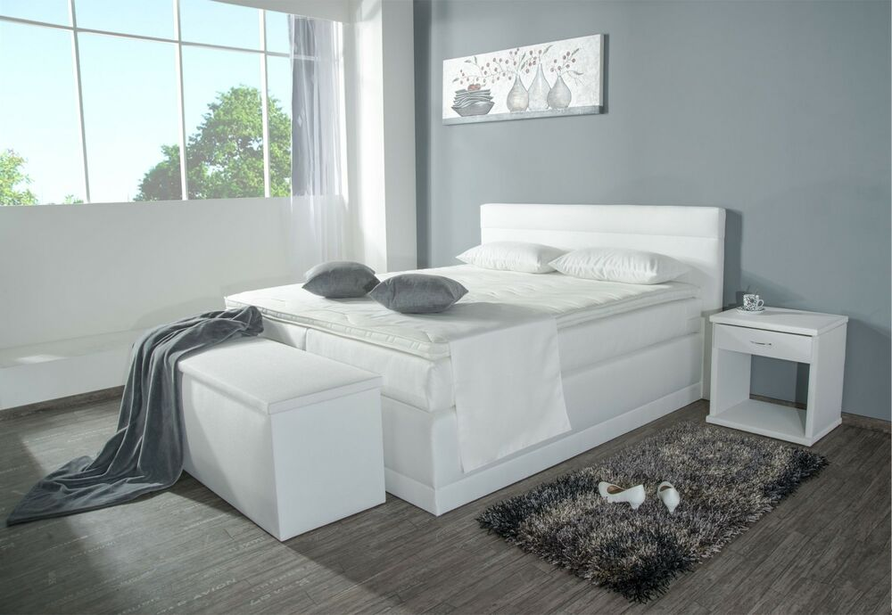 boxspringbett bali sb 80x200 120x200 140x200 160x200. Black Bedroom Furniture Sets. Home Design Ideas