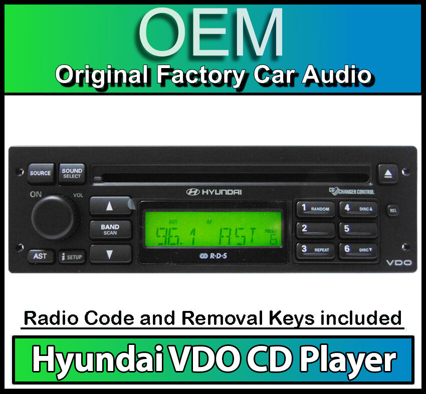 hyundai getz cd player radio vdo car stereo headunit with. Black Bedroom Furniture Sets. Home Design Ideas