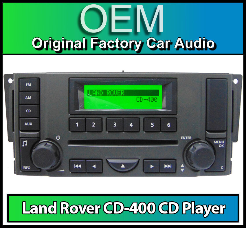 land rover range rover sport cd player radio cd 400 car stereo 1 year warranty ebay. Black Bedroom Furniture Sets. Home Design Ideas