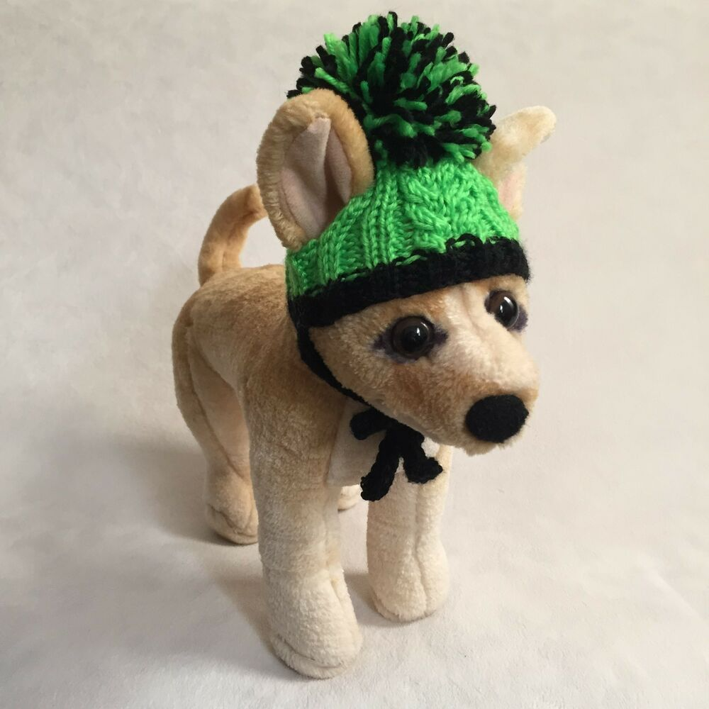 c2d798ecc7b Details about Handmade Knit Clothes Pompom Hat with Ties for Dogs   Pets  Size XXS