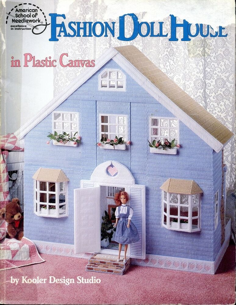 Fashion Doll House For Barbie Plastic Canvas Pattern Book
