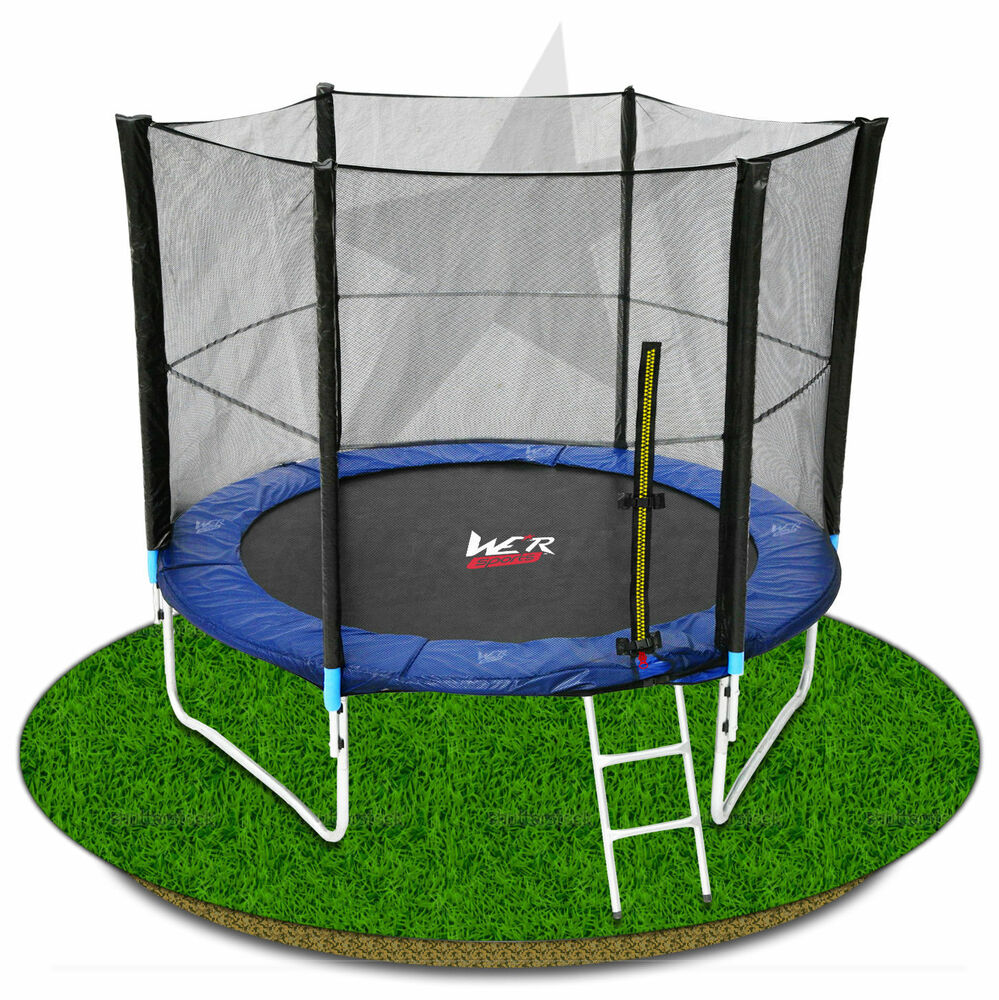 8FT Trampoline With Safety Net Enclosure Padding Ladder