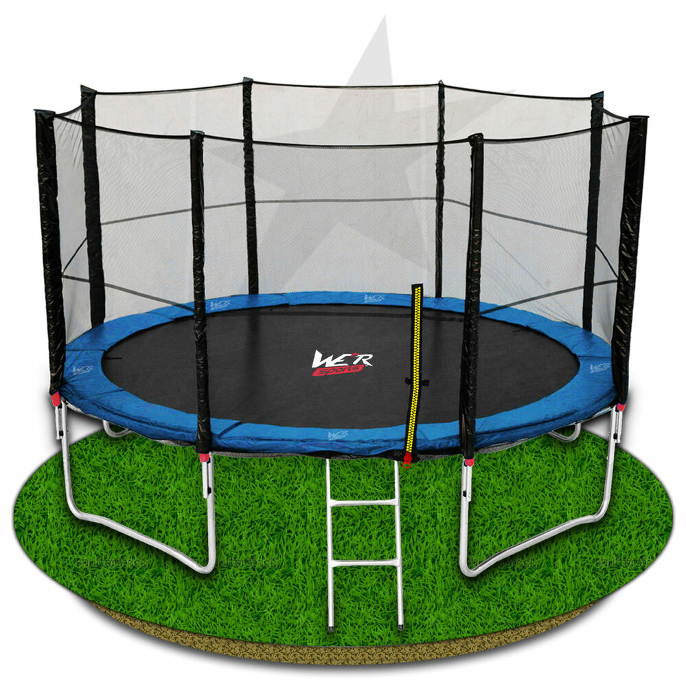 14FT Trampoline With Safety Net Enclousue Padding Ladder