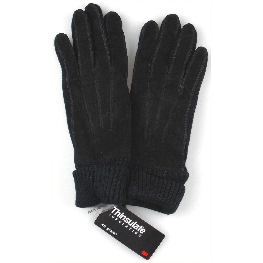 jaclyn smith leather polyester suede knit gloves 3m thinsulate winter choice new ebay. Black Bedroom Furniture Sets. Home Design Ideas