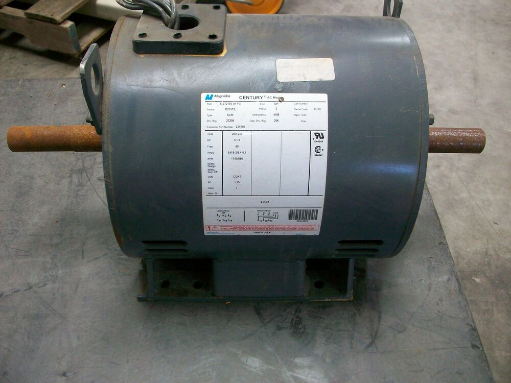 century 3 1 5 hp electric motor 6 372193 01 f3 new old