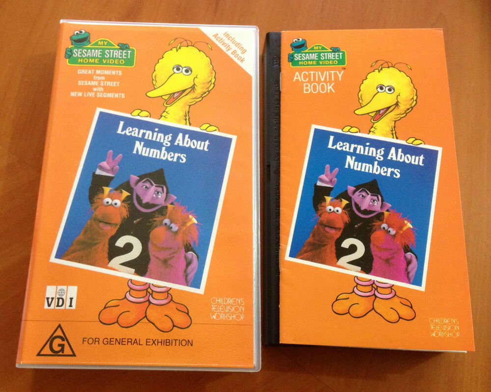 sesame street learning about letters vhs sesame learning about numbers vhs ebay 10883