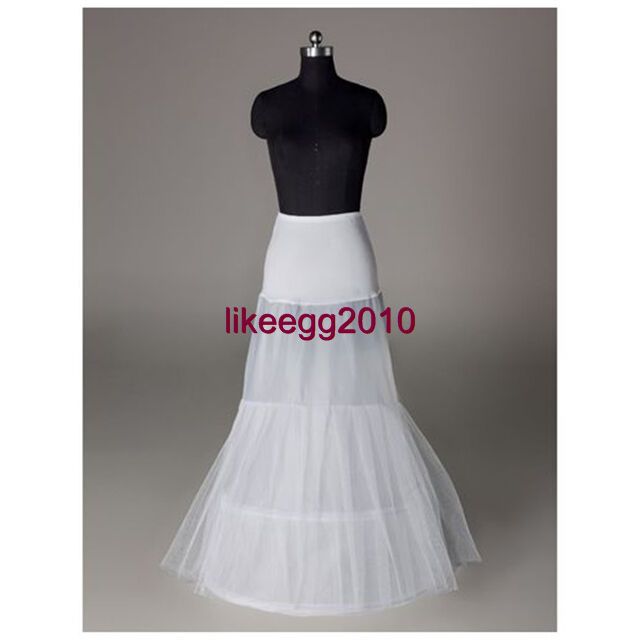 White bridal wedding dress crinoline petticoat a line or for Mermaid slip for wedding dress