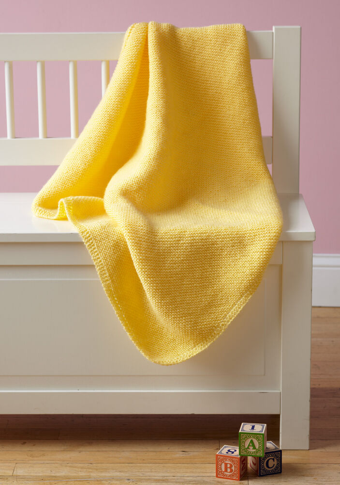 Knitting Pattern Easy Knit Baby Blanket Pattern In