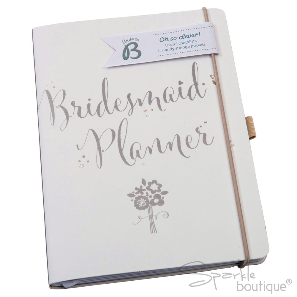 bridesmaid planner wedding journal organiser notebook planning book lovely gift ebay