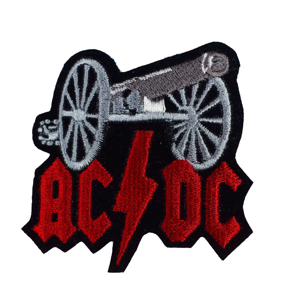 Acdc embroidered rock band iron on or sew patch uk