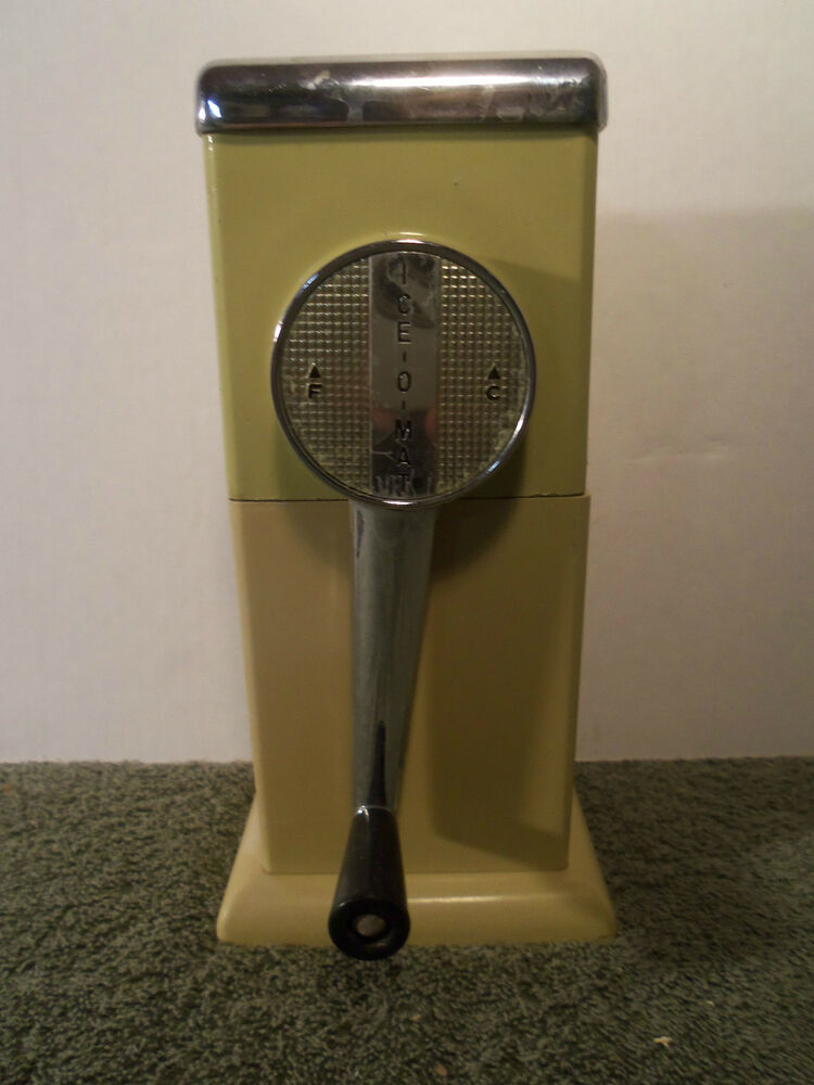 Vintage Ice O Mat Ice Crusher 1950 S Or 1960 S Ebay