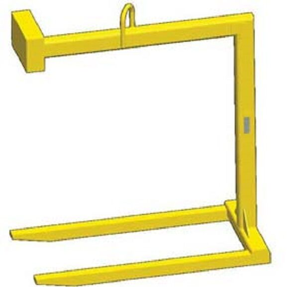 Overhead Crane Pallet Forks : New fixed bale lift pallet lifter lb capacity