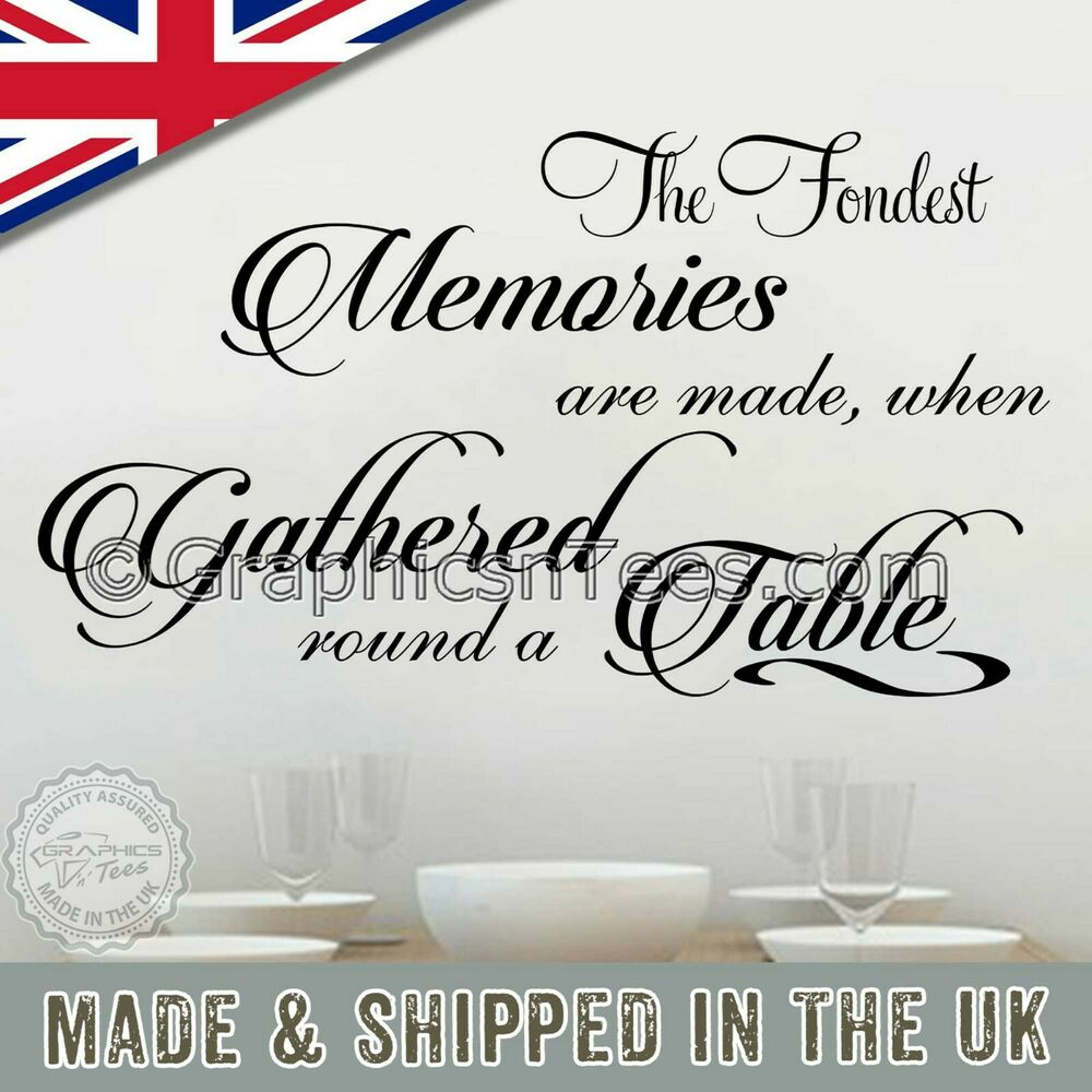 Family Wall Sticker Inspirational Quote Memories Are Made Kitchen Dining Ro