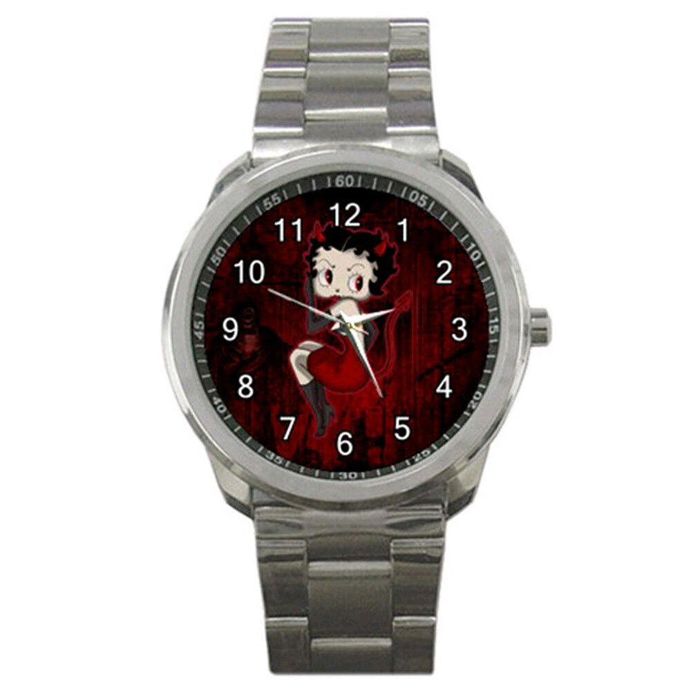 new wrist sport analogue leather betty boop ebay