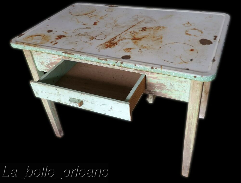 Enamel Kitchen Table