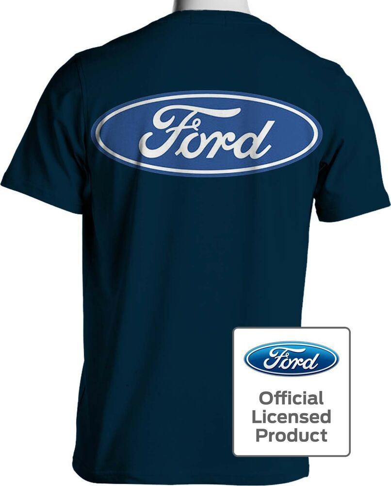 ford blue oval t shirt ford motor company shirts mens. Black Bedroom Furniture Sets. Home Design Ideas