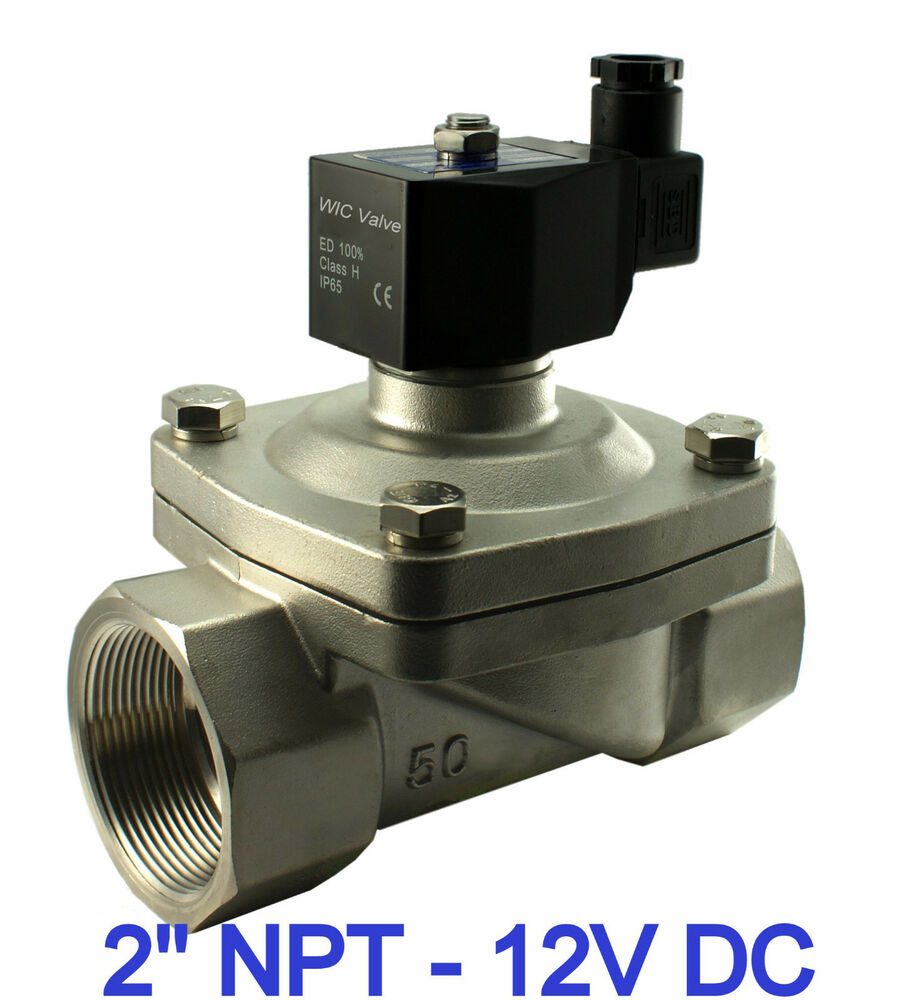 2 Quot Inch Stainless Electric Solenoid Air Water Valve