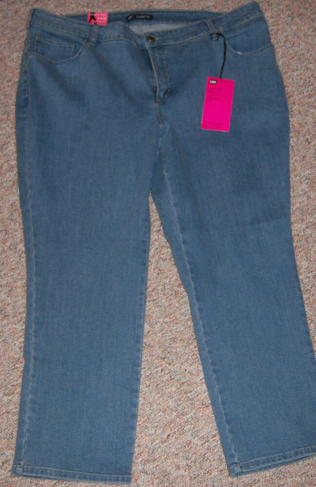 Lee Relaxed Fit Straight Leg Jeans Womens Plus