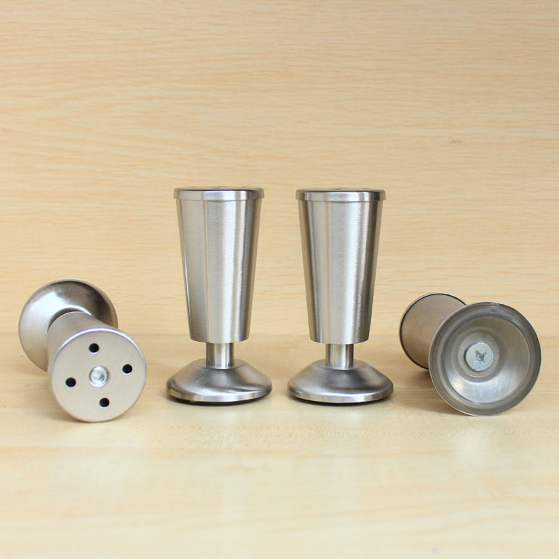 4 pcs metal stainless steel legs furniture kitchen cabinet
