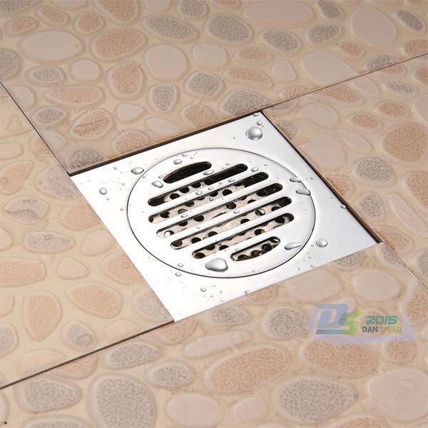 Bathroom Floor Drain Strainer : Stainless steel kitchen bathroom floor drain square sink