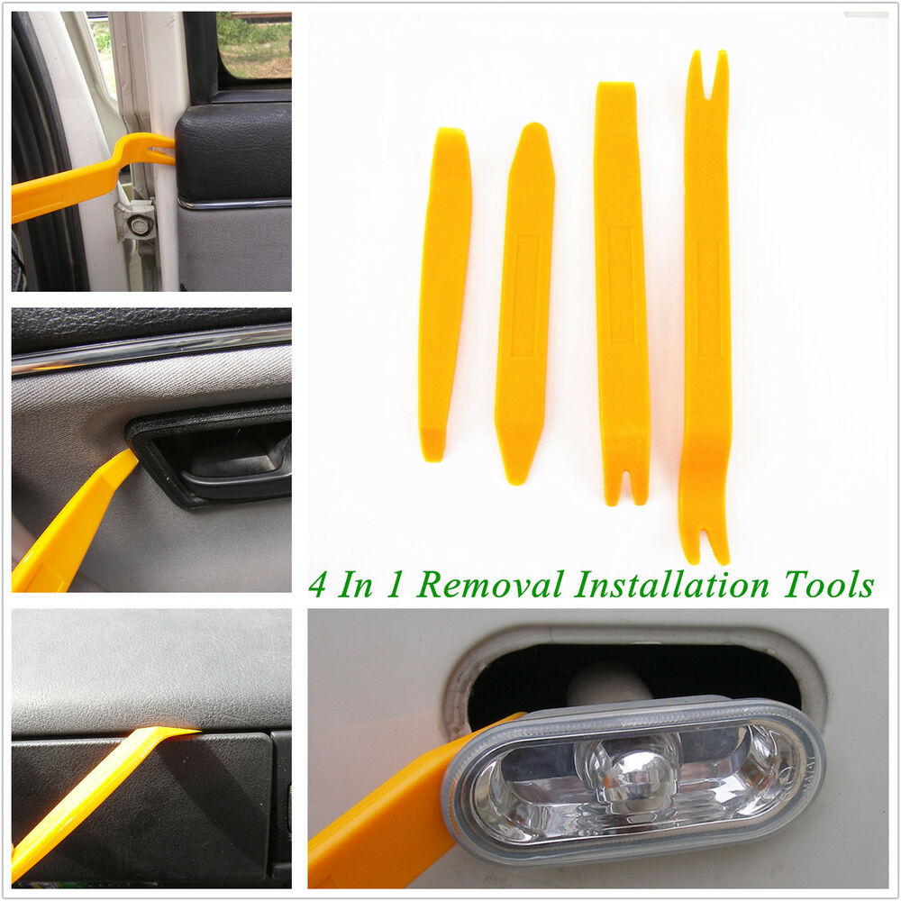 auto interior handle panel door lights trim removal installation tool kit 4 in 1 ebay. Black Bedroom Furniture Sets. Home Design Ideas