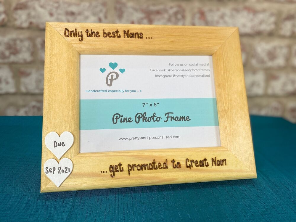 Personalised Wooden Photo Frame \'The Best Parents Get Promoted To ...