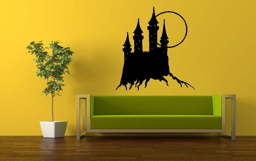 Medieval castle wall stickers wall art vinyl decal decor for Castle wall mural sticker